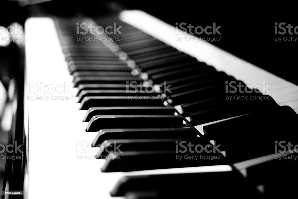 피아노 키보드 royalty-free 스톡 사진