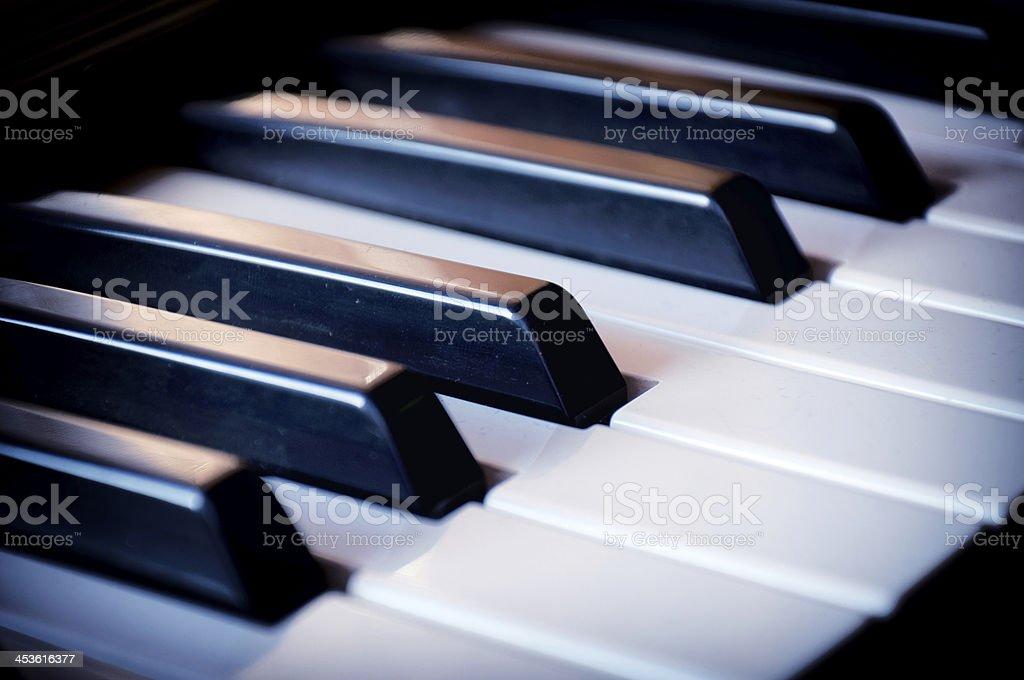 Piano keyboard royalty-free stock photo