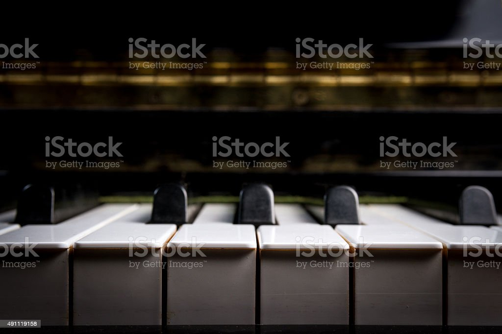 piano keyboard stock photo