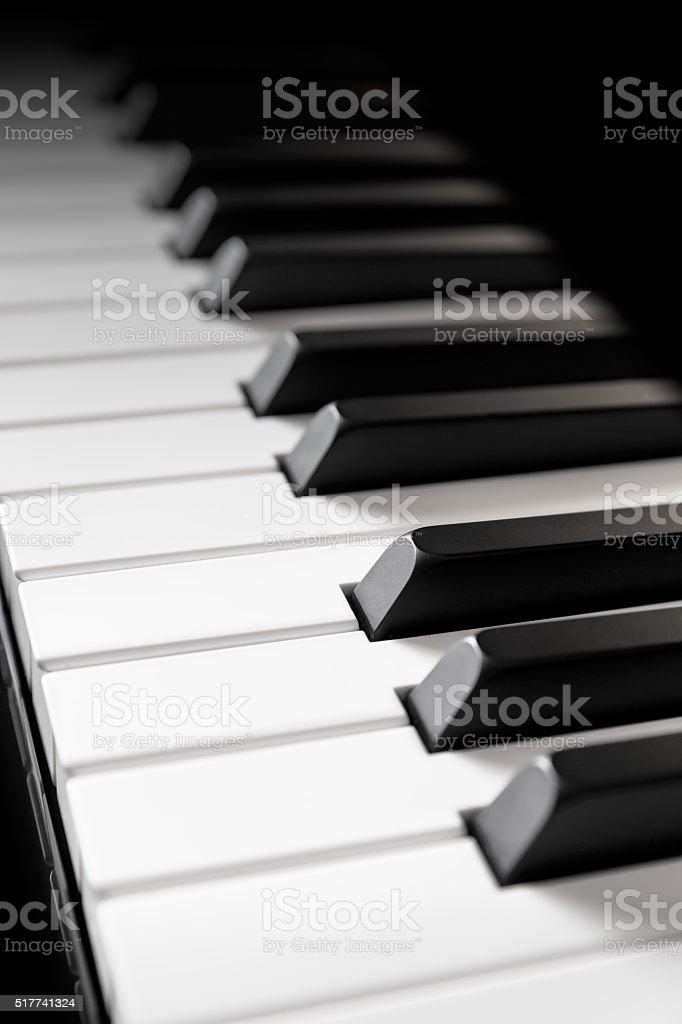 Piano keyboard stock photo