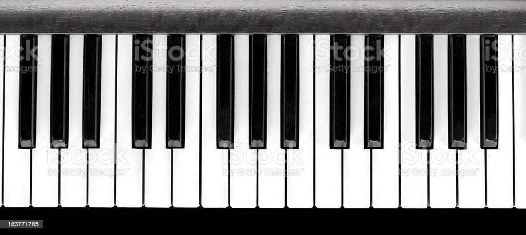 Piano Keys, Close Up stock photo