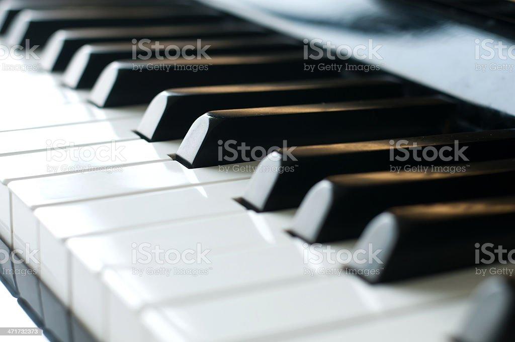 piano keys closeup royalty-free stock photo