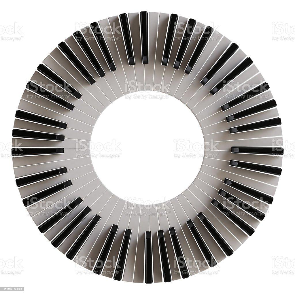 Piano keys. Illustration isolated on white background stock photo