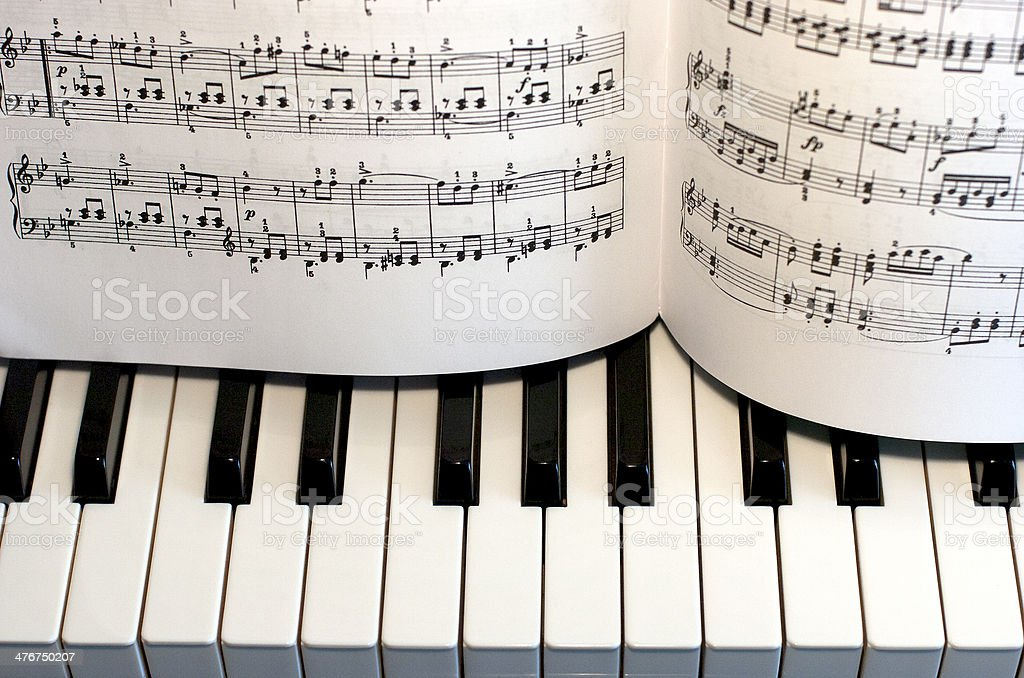 Piano keys. Music. royalty-free stock photo