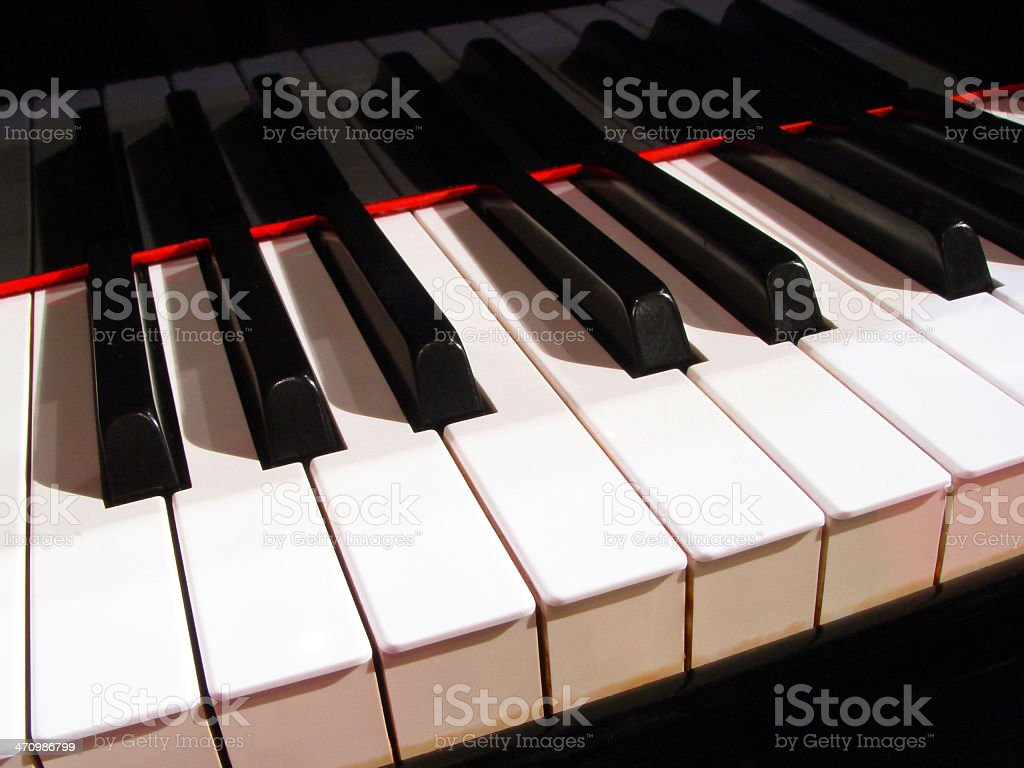 Piano keys - Musical Instrument (series) royalty-free stock photo