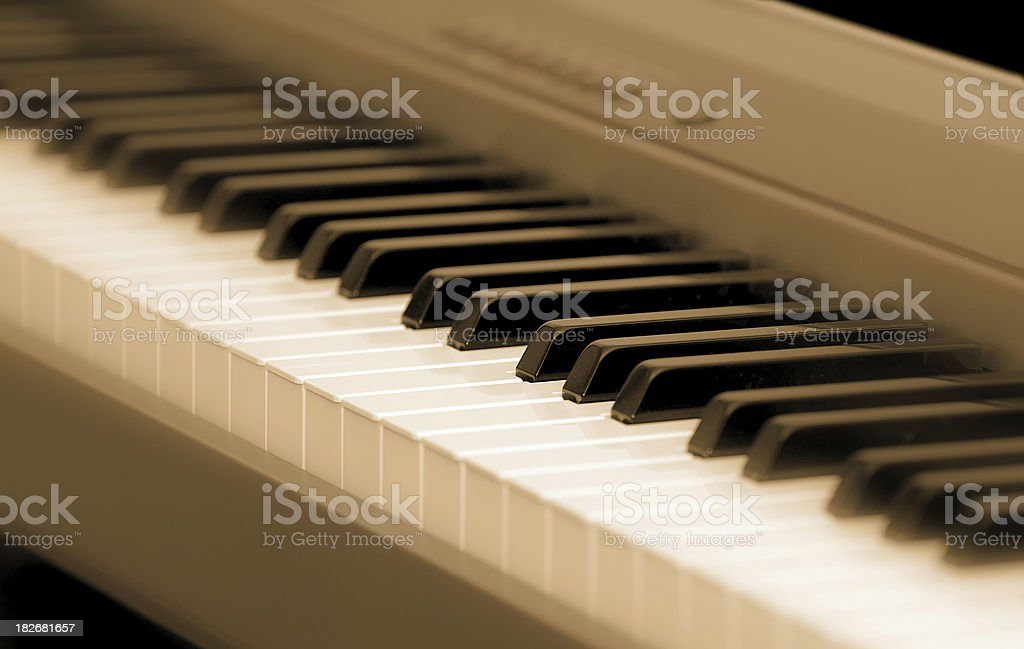 piano keys royalty-free stock photo
