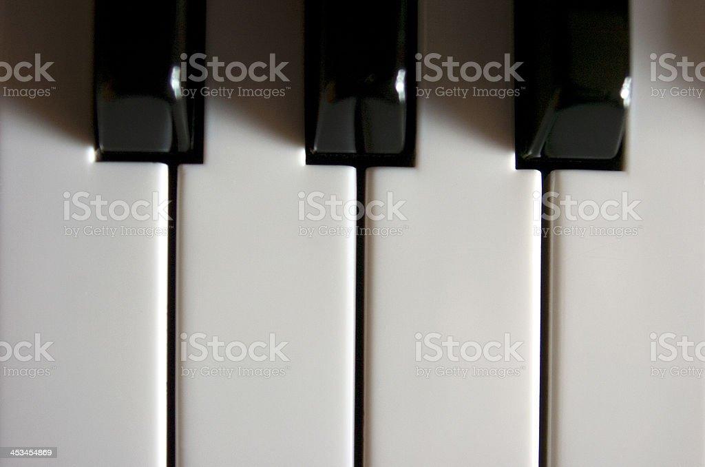 Piano keys royalty-free stock photo