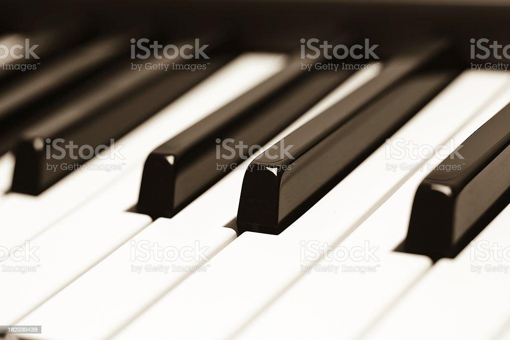 Piano Keys, Sepia stock photo