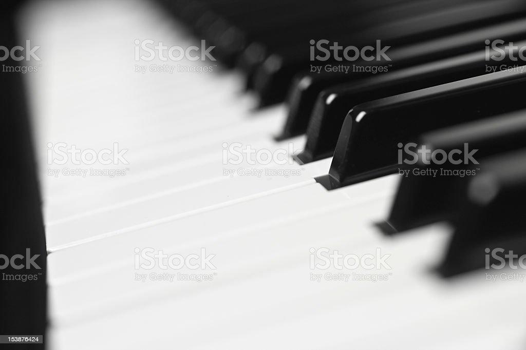 Piano Keys - Shallow Depth of Field stock photo