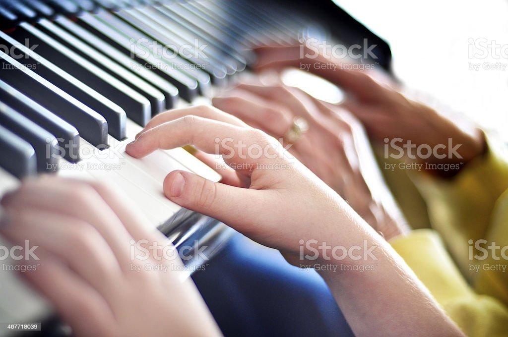 Piano Lesson 2 stock photo
