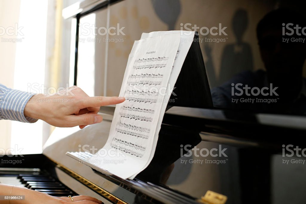 Piano Lessons stock photo