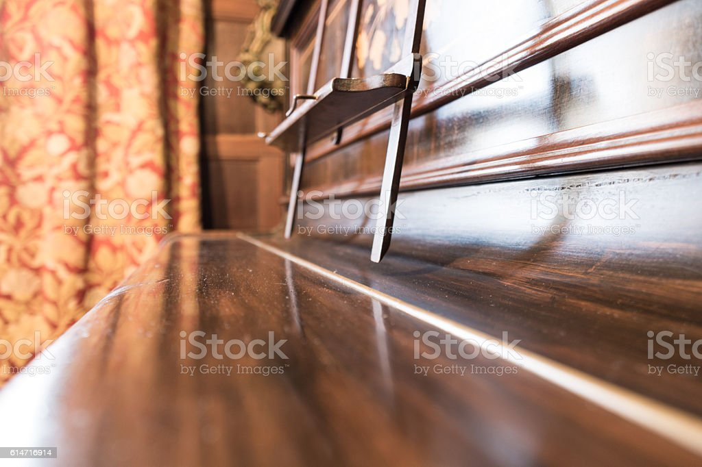 Piano lid detail stock photo