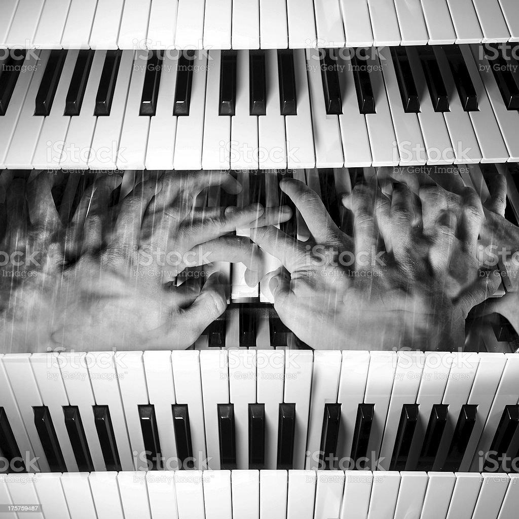 Piano madness royalty-free stock photo