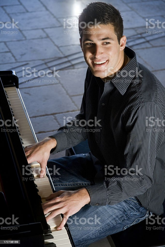 Piano Man royalty-free stock photo