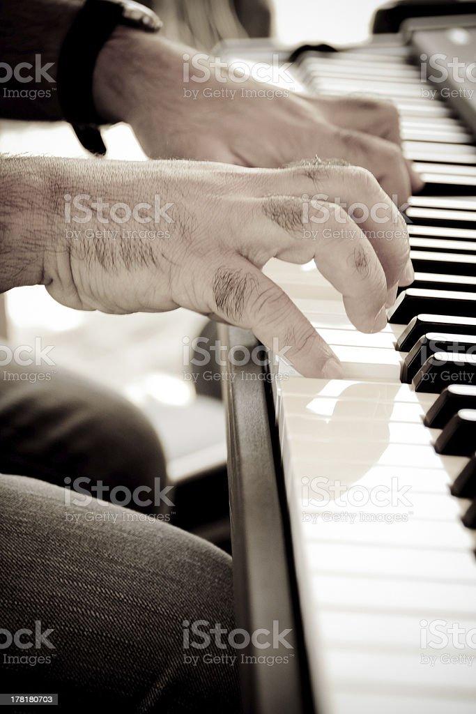 Piano man royalty-free stock photo