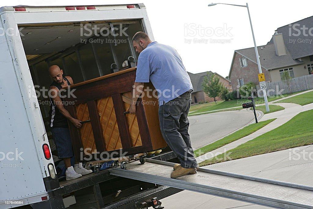 Piano Moving stock photo