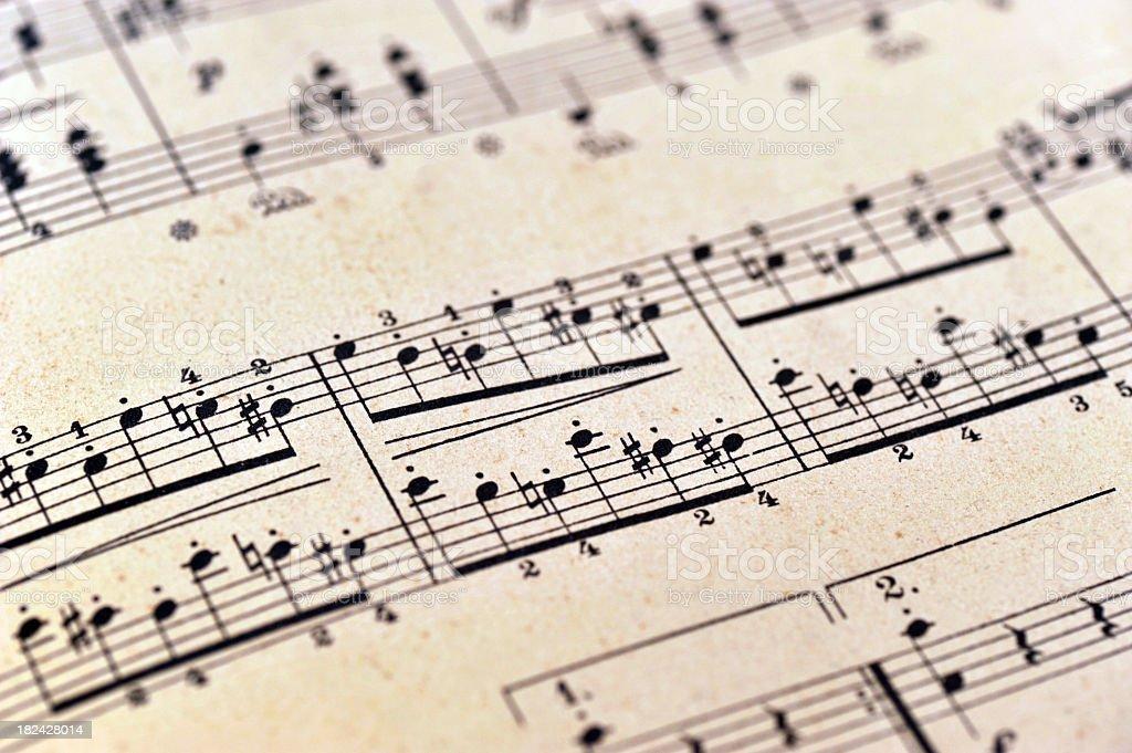 piano notes sheet music - Klaviernoten royalty-free stock photo