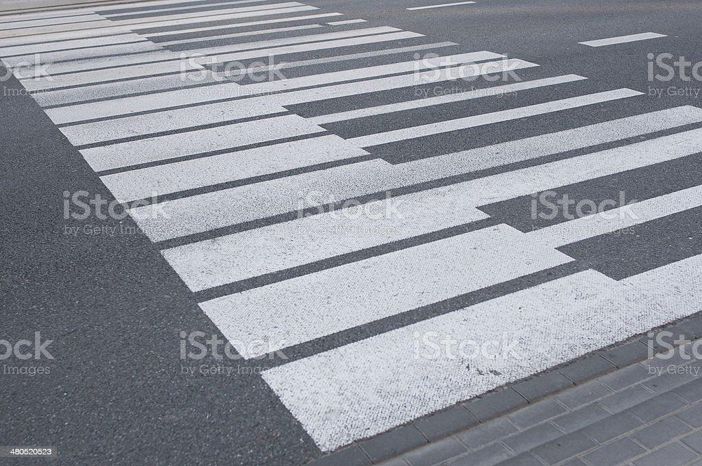 Piano pedestrian crossing stock photo