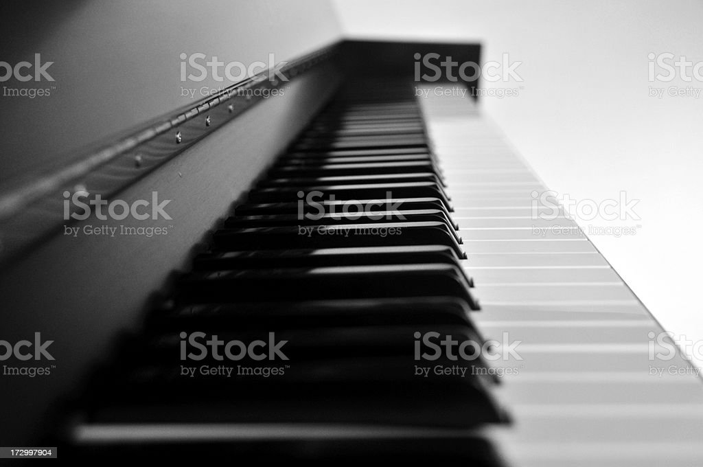 Piano Perspective stock photo