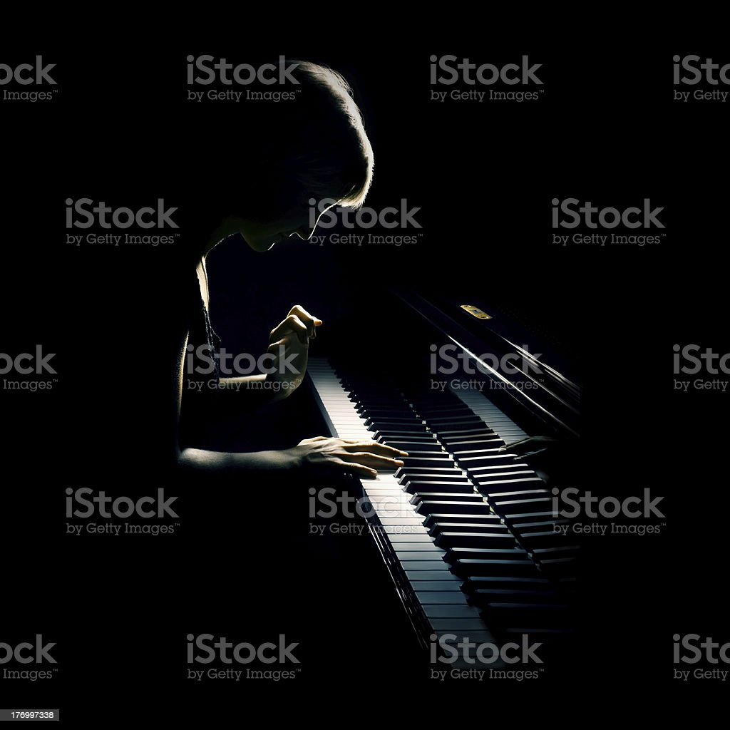 Piano pianist concert playing royalty-free stock photo