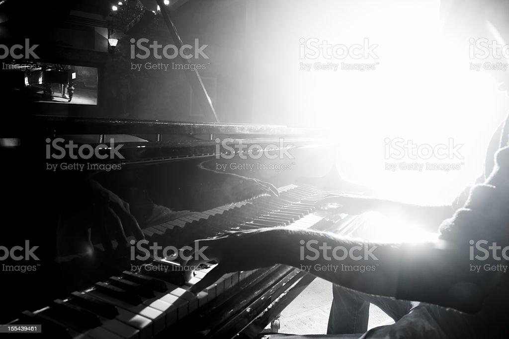 Piano Player stock photo