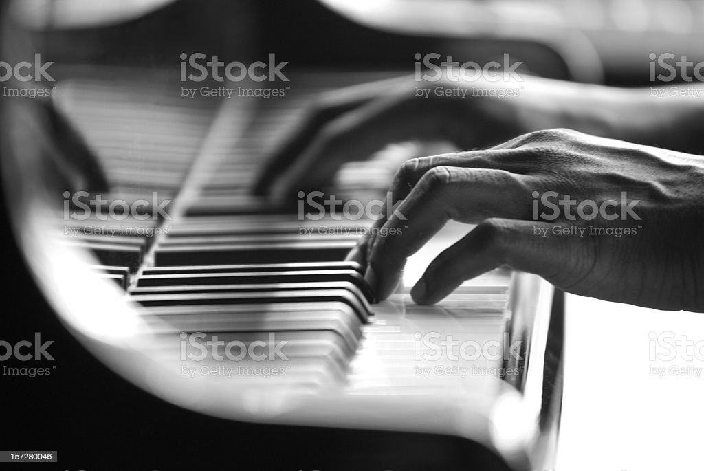 Piano Player stock photo