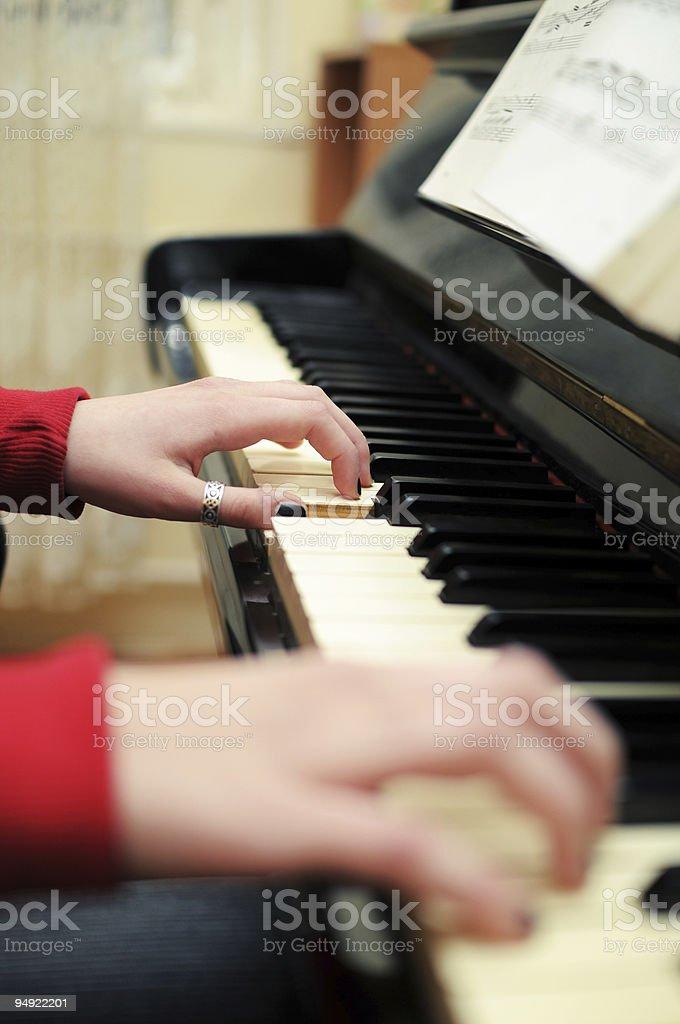 Piano player royalty-free stock photo