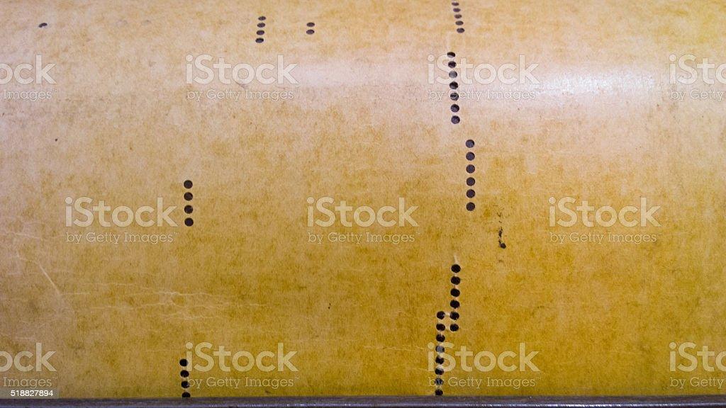 Piano Roll stock photo