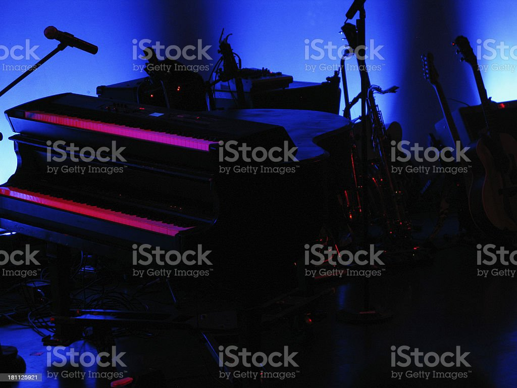 Piano Stage Instruments royalty-free stock photo