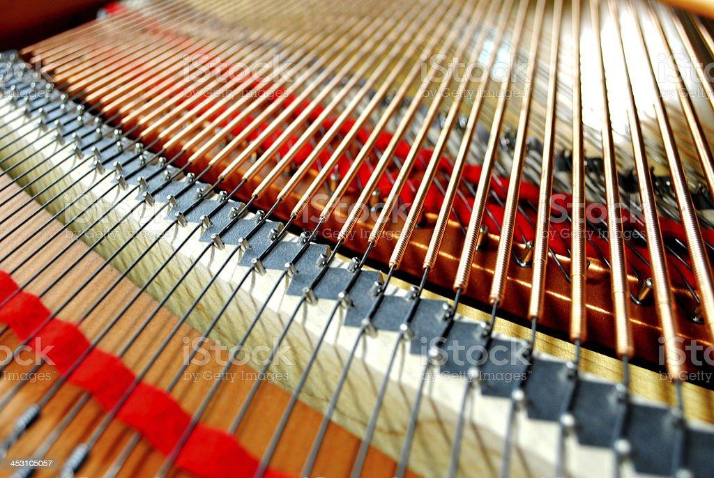 piano strings stock photo