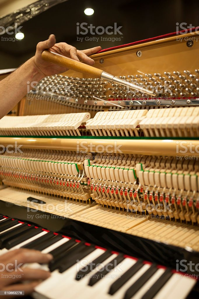 Piano Tuning stock photo