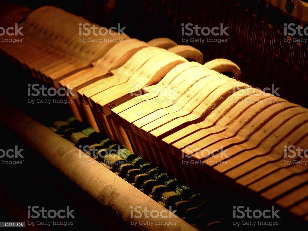 Piano view I stock photo