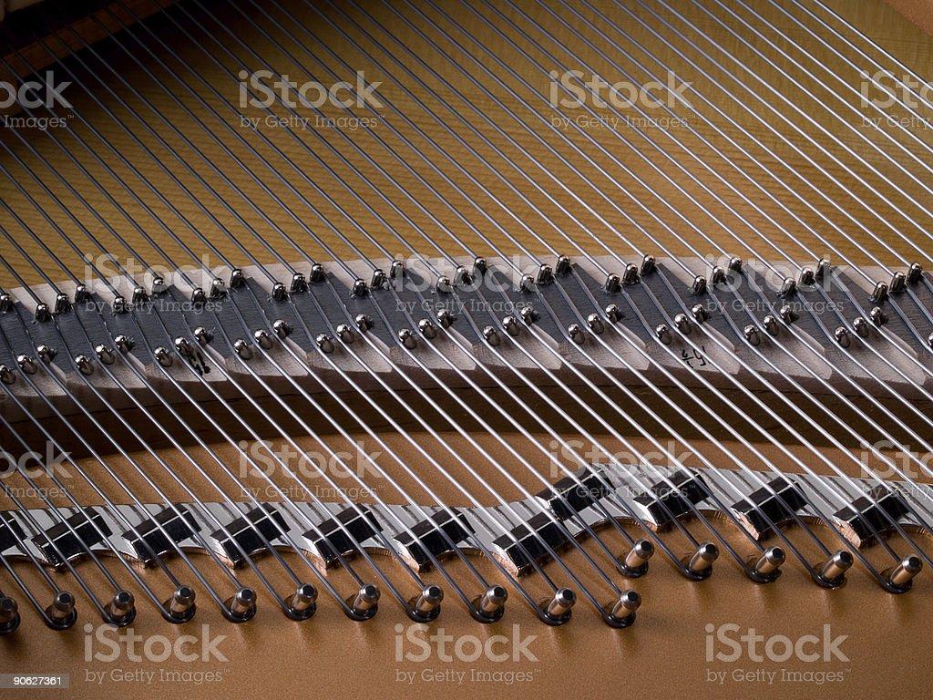 Piano Wires stock photo
