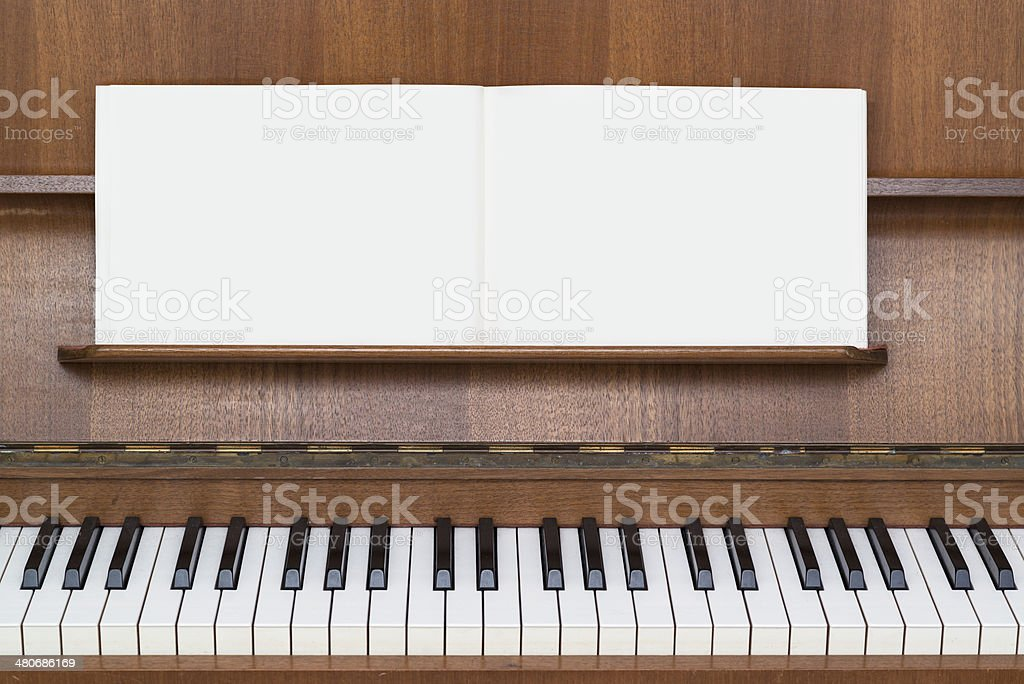 piano with music book royalty-free stock photo