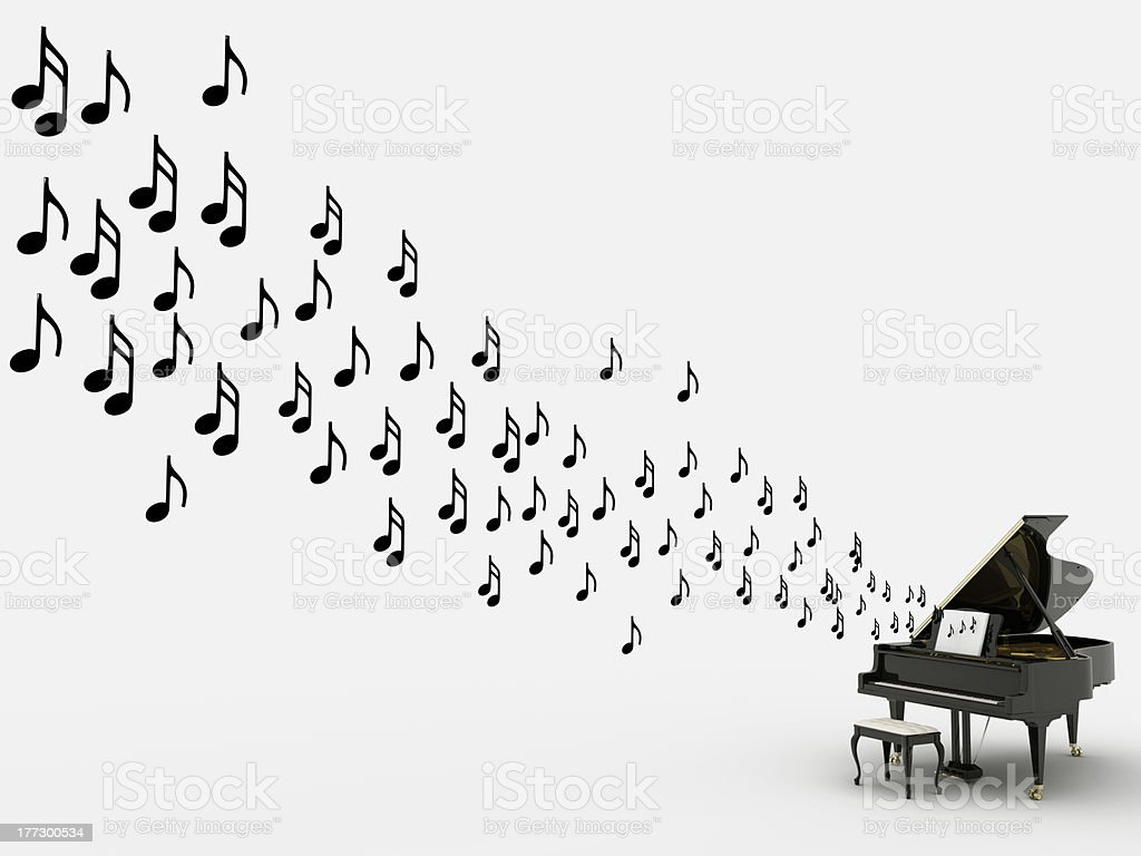 pianoNnotes stock photo
