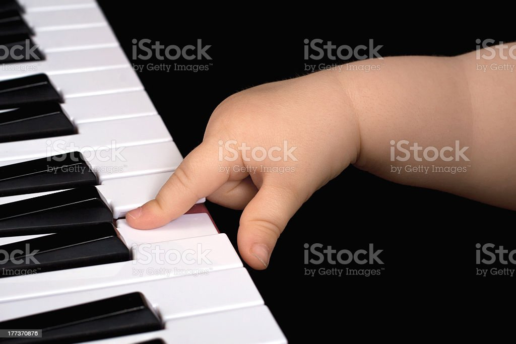 Pianoplayer royalty-free stock photo