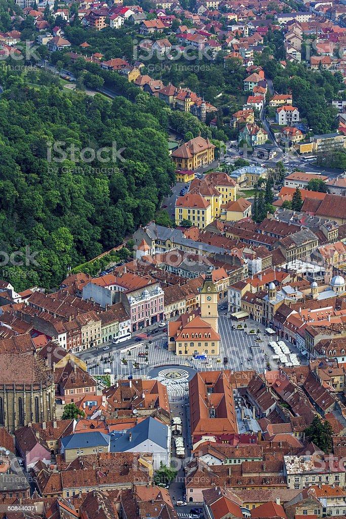 Piata Sfatului, Brasov stock photo