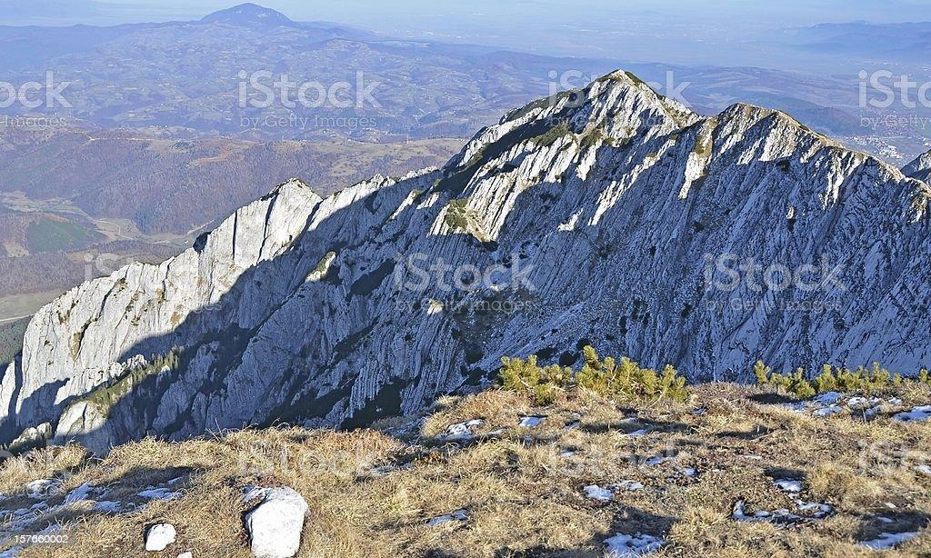 Piatra Craiului Mountains cliffs royalty-free stock photo