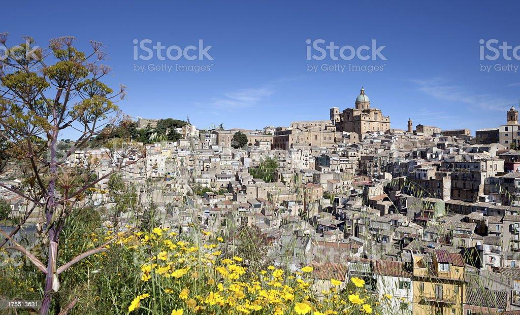 'Piazza Armerina cityscape, Sicily Italy' stock photo