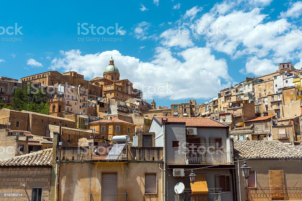 Piazza Armerina in Sicily, Italy stock photo