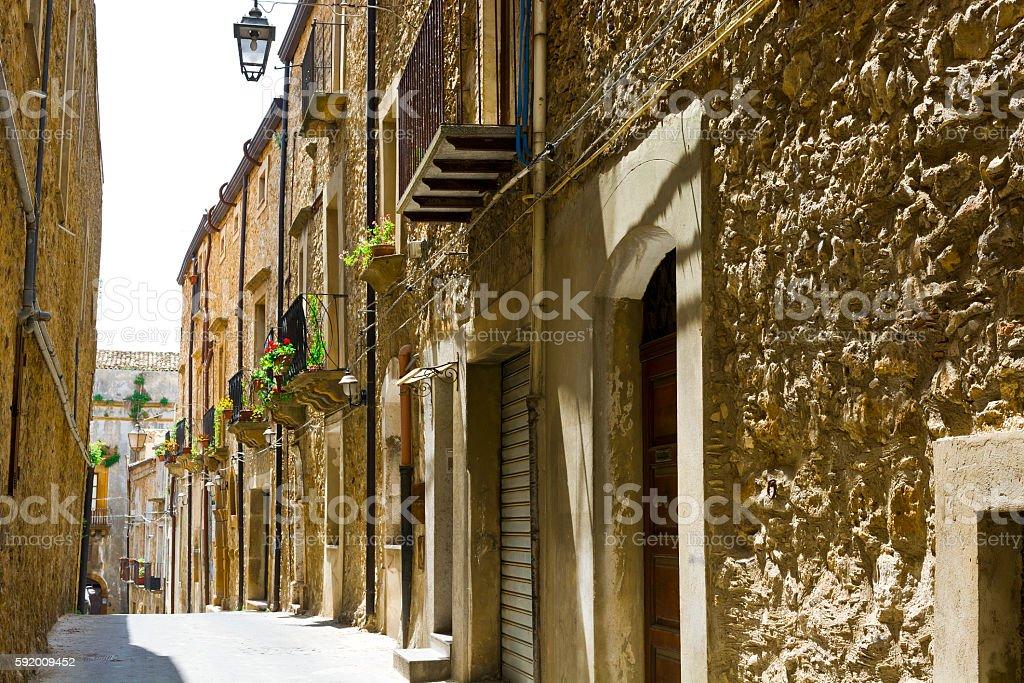 Piazza Armerina in Sicily stock photo