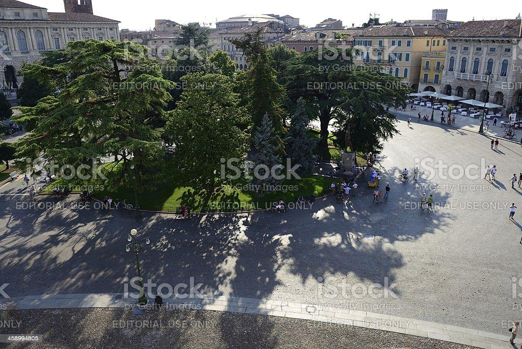 Piazza Bra gardens. royalty-free stock photo