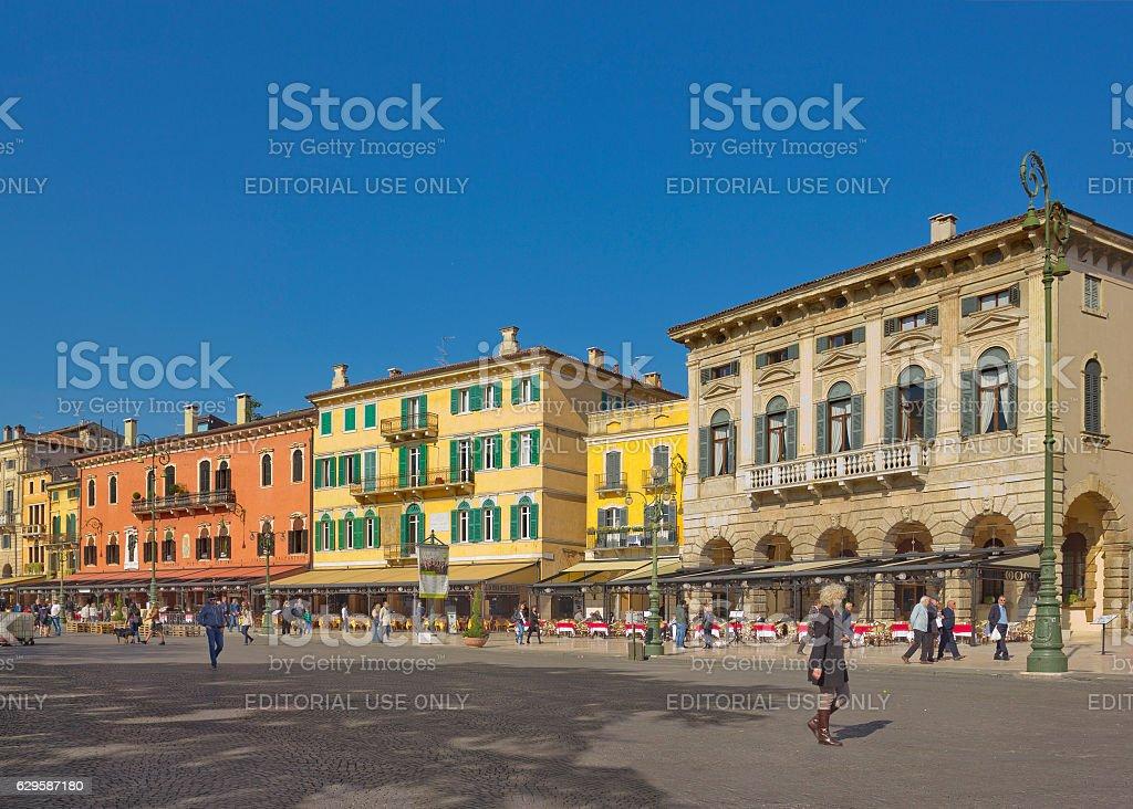 Piazza Bra in Verona, Italy stock photo
