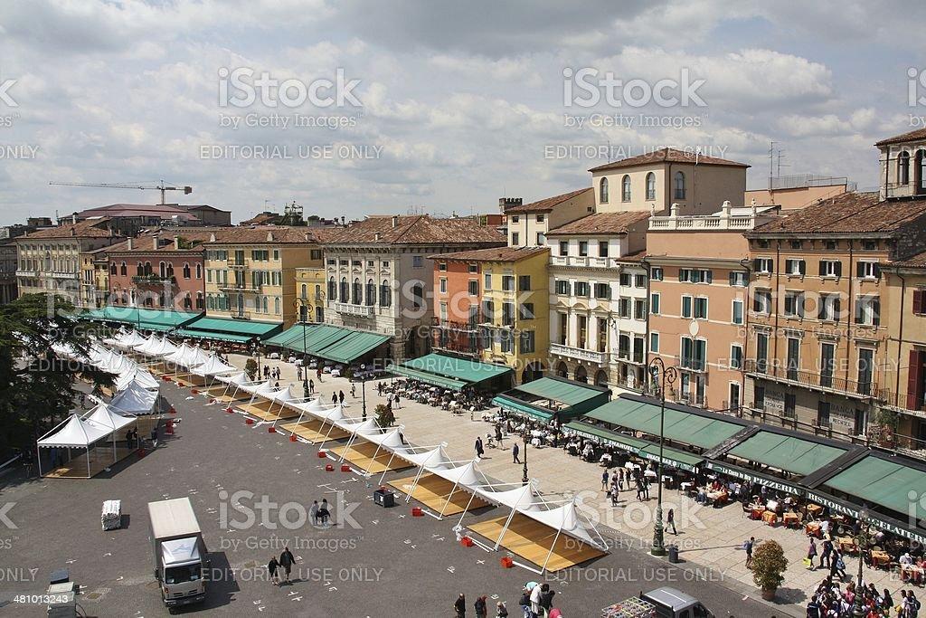 Piazza Bra in Verona royalty-free stock photo