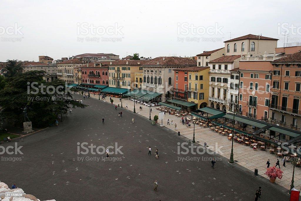 Piazza Bra stock photo