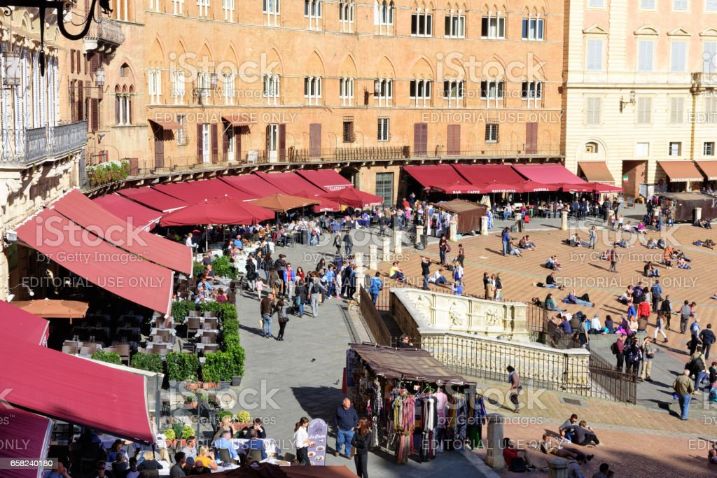Piazza cel Campo, in Siena, Italy stock photo