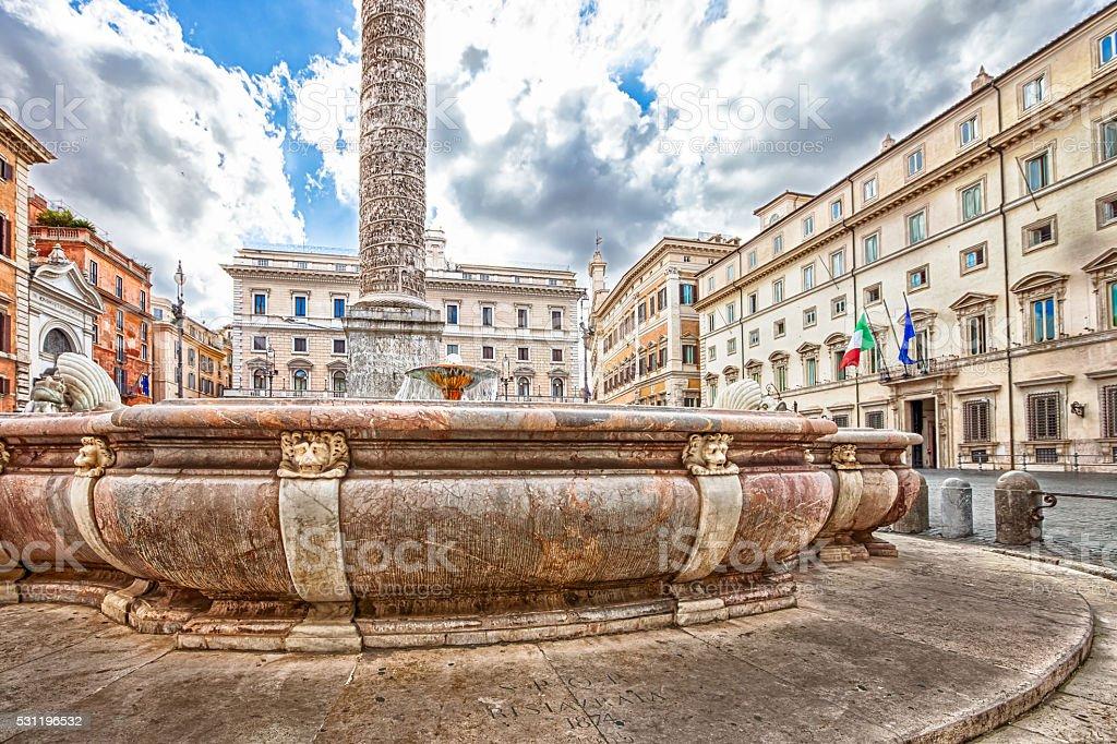Piazza Colonna Rome stock photo