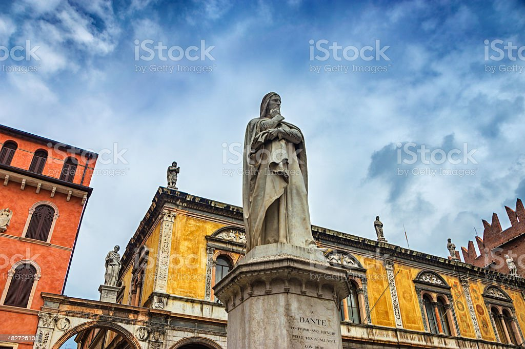 Piazza Dante In Verona, Italy stock photo