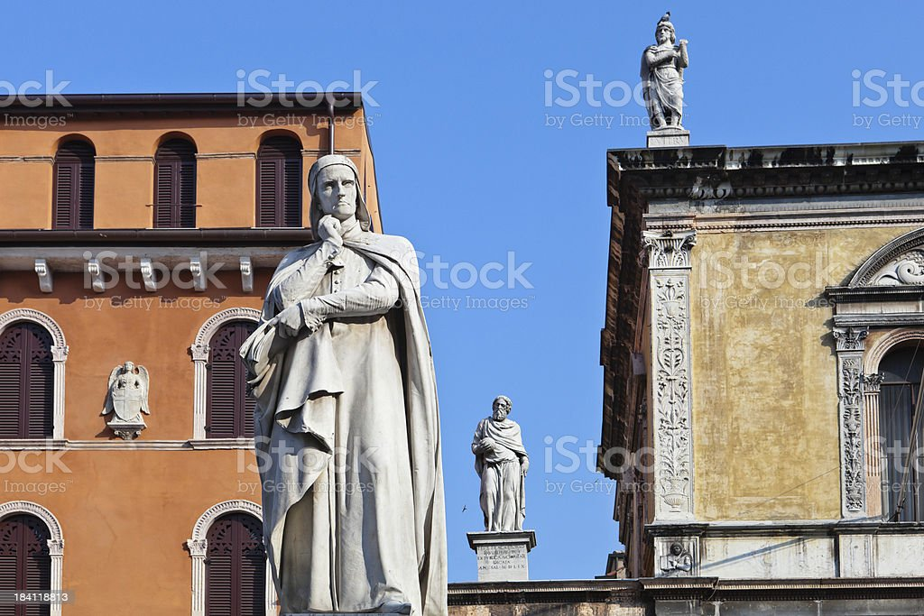 Piazza Dante, Verona stock photo