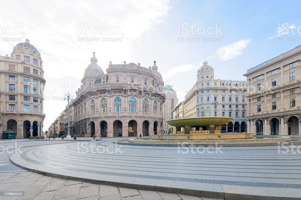 Piazza de Ferrari, Genoa stock photo